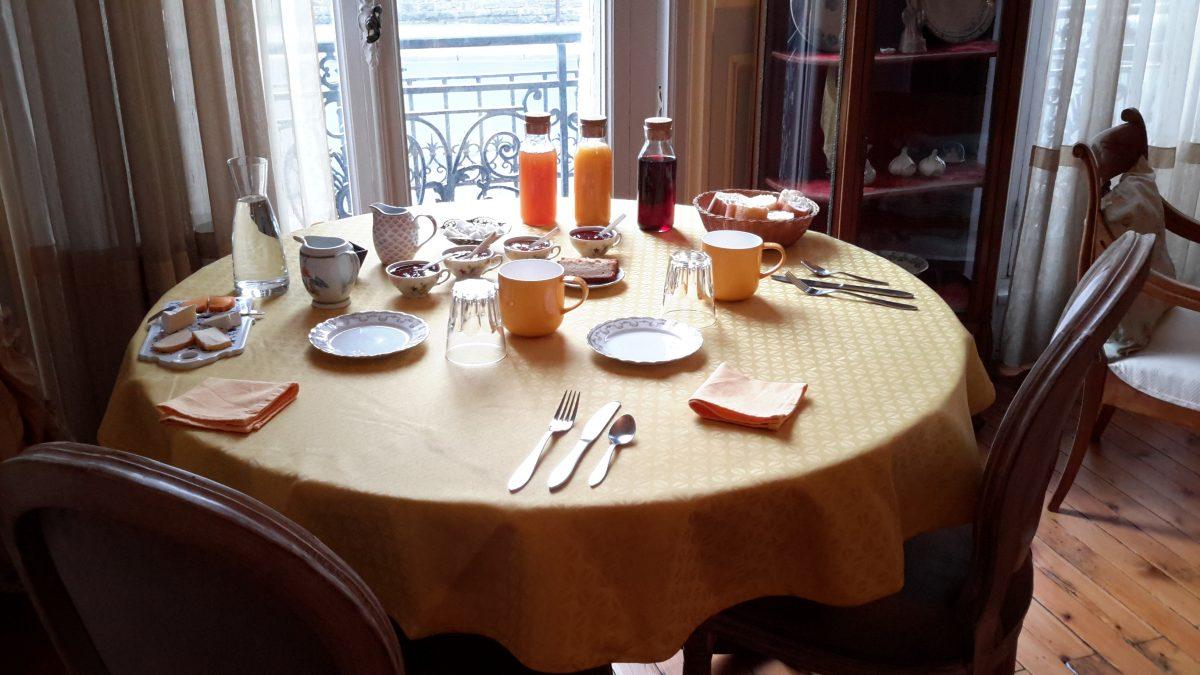 petit-déjeuner, Belle Boulonnaise, chambres d'hôtes, Boulogne-sur-Mer